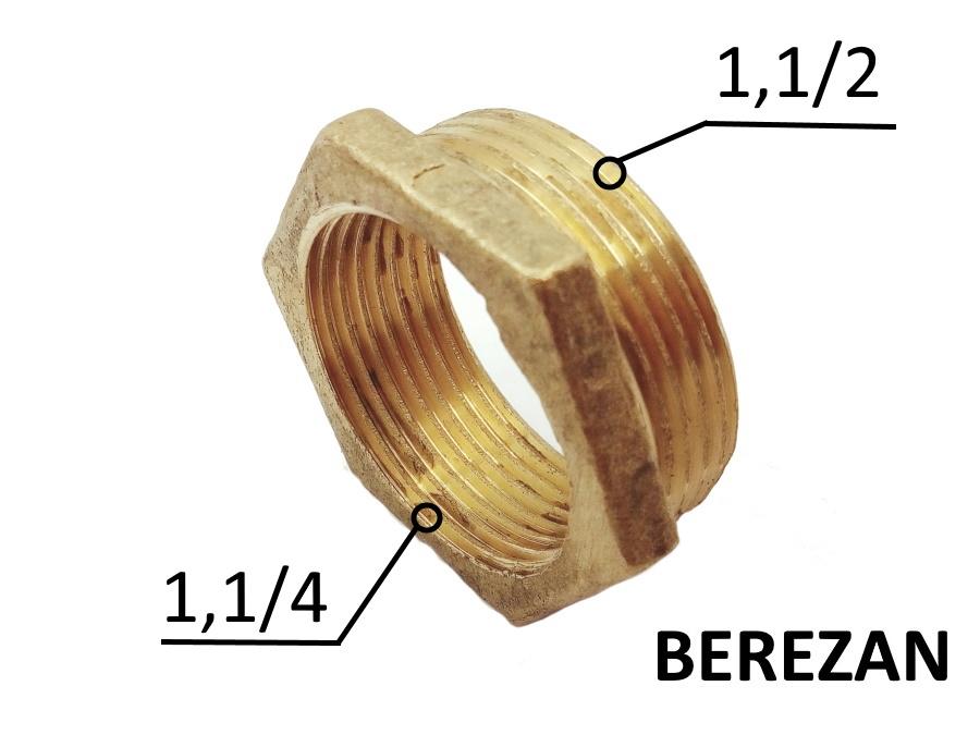 Переходник Футорка 1.1/2н - 1.1/4в латунный усиленный