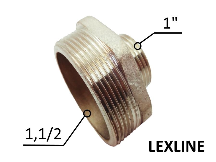Переходник Ниппель 1.1/2н - 1н - Никель LEXLINE