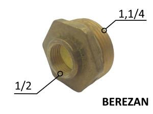 Переходник Футорка 1.1/4н - 1/2в латунный усиленный