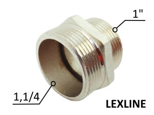 Переходник Ниппель 1.1/4н - 1н - Никель LEXLINE