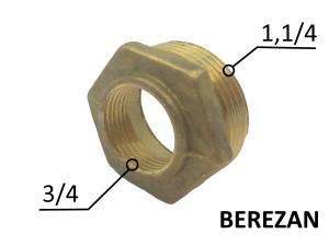 Переходник Футорка 1.1/4н - 3/4в латунный усиленный