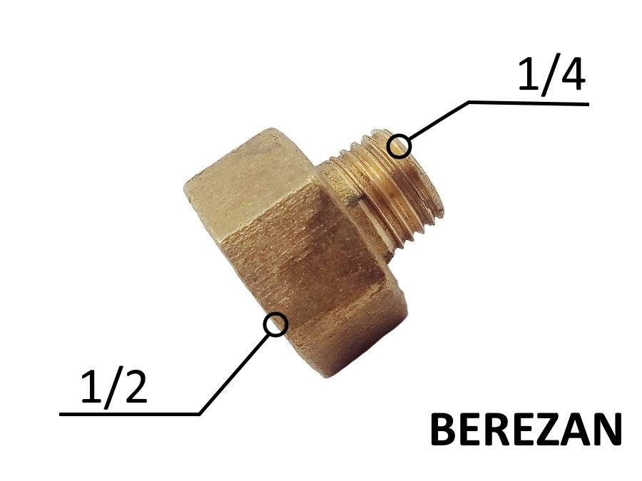 Переходник Лейка 1/2в - 1/4н латунный усиленный
