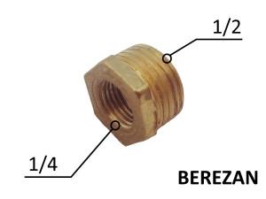 Переходник Футорка 1/2н - 1/4в для манометра.
