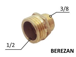 Переходник Ниппель 1/2н - 3/8н латунный усиленный