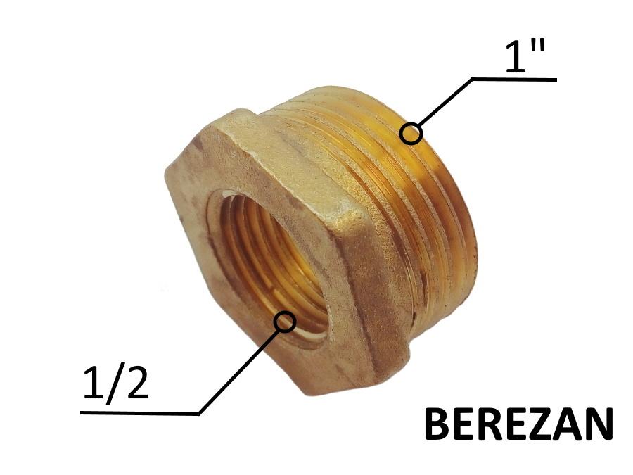 Переходник Футорка 1н - 1/2в латунный усиленный