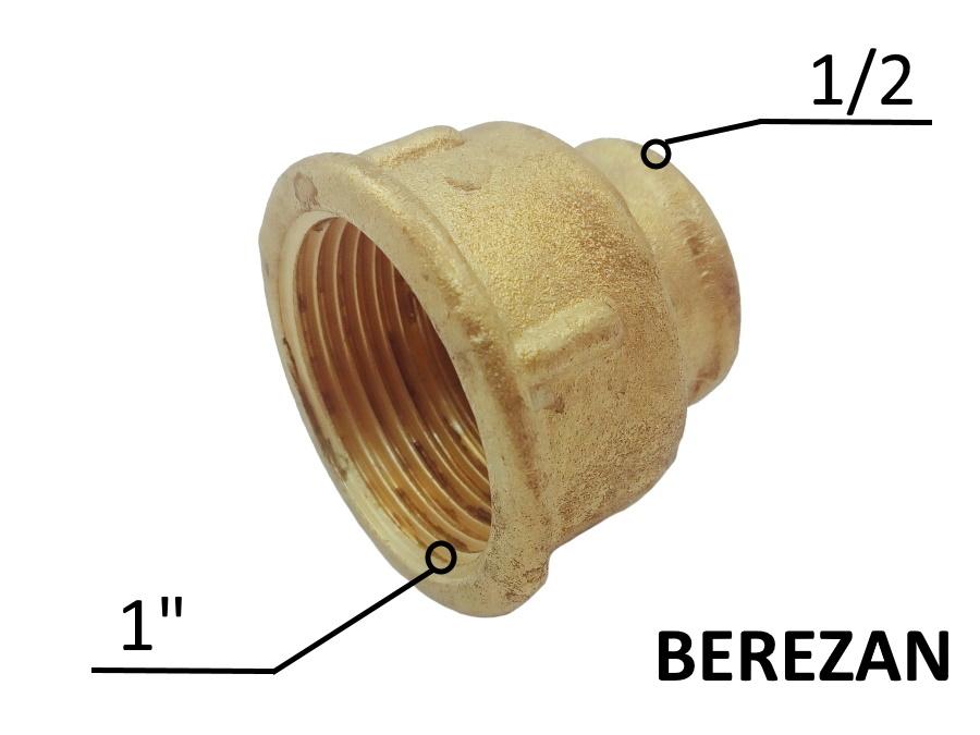 Переходник Муфта 1в - 1/2в латунный усиленный