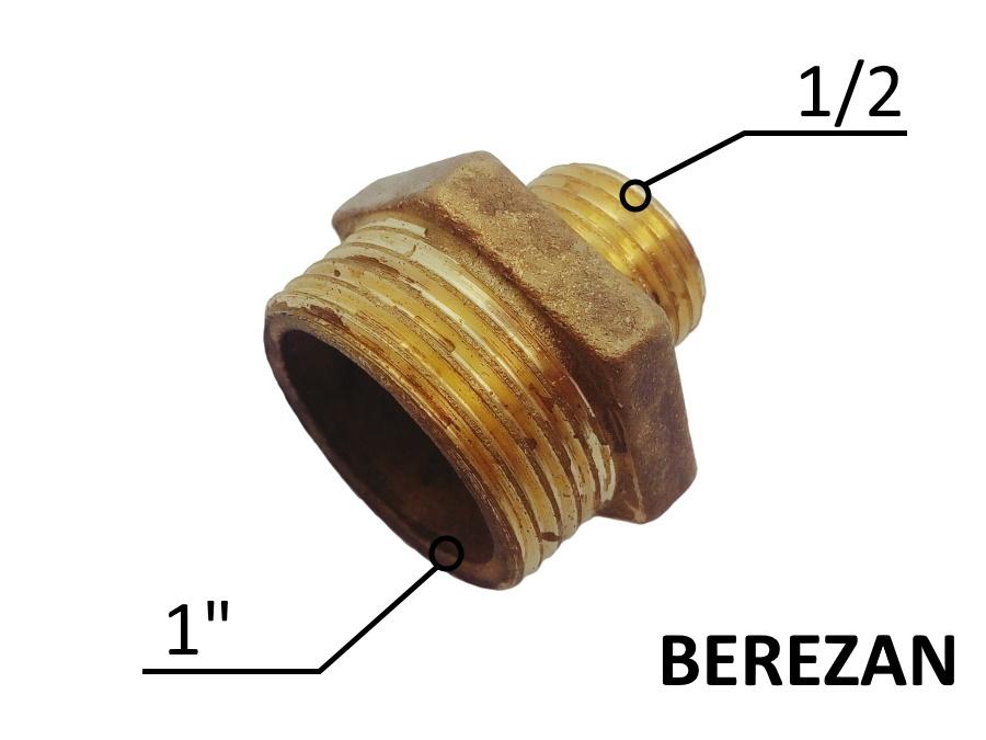 Переходник Ниппель 1н - 1/2н латунный усиленный