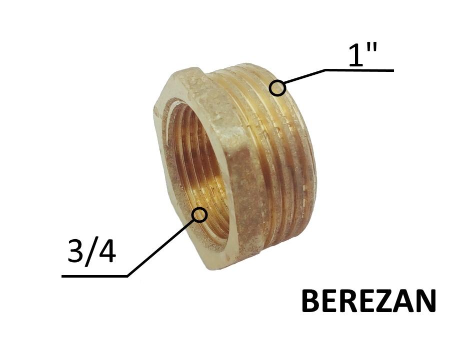 Переходник Футорка 1н - 3/4в латунный усиленный