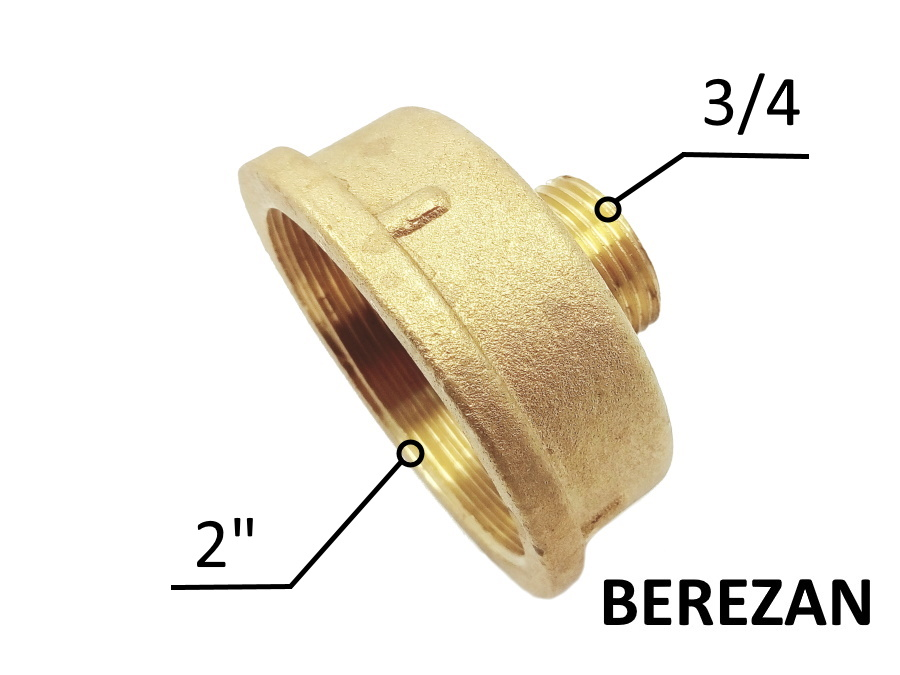 Переходник Лейка 2в - 3/4н латунный усиленный