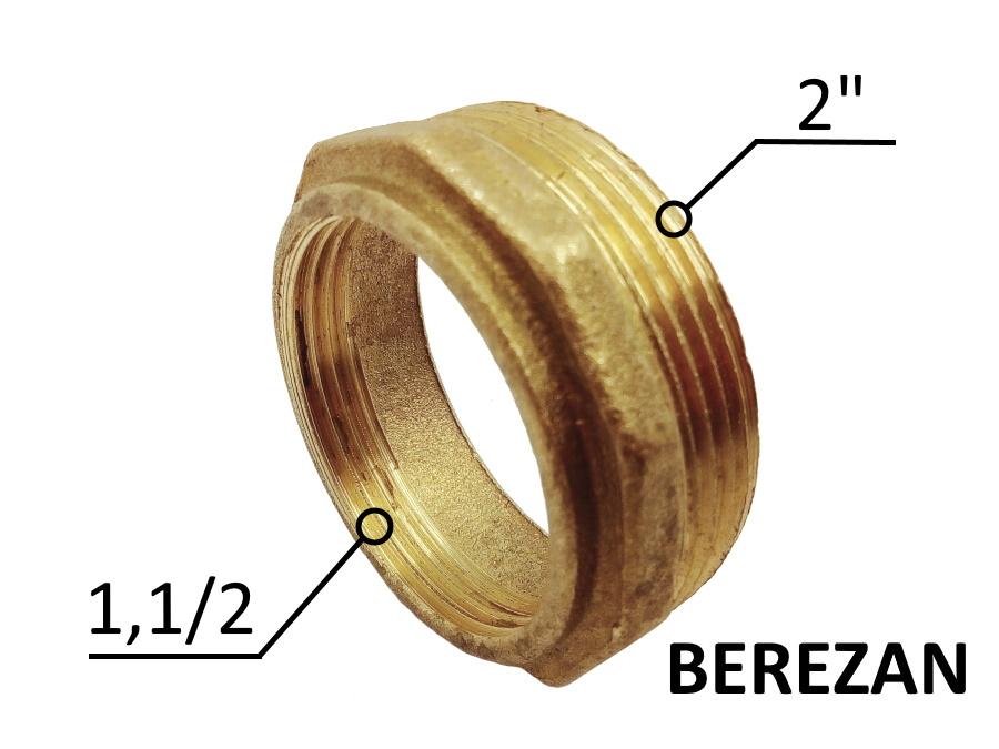 Переходник Футорка 2н - 1.1/2в латунный усиленный