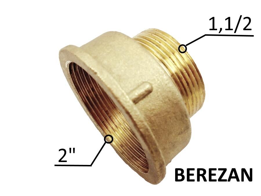 Переходник Лейка 2в - 1.1/2н латунный усиленный