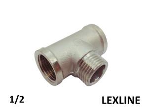 Тройник 1/2 ВНВ - LEXLINE (Ni) усиленный.