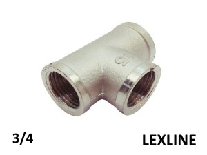 Тройник 3/4 ВВВ - LEXLINE (Ni) усиленный.