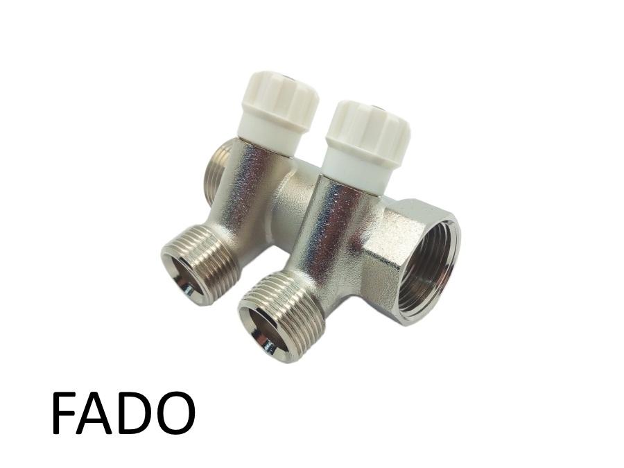 Коллектор вентильный под евроконус 1х3/4 х 2 Fado