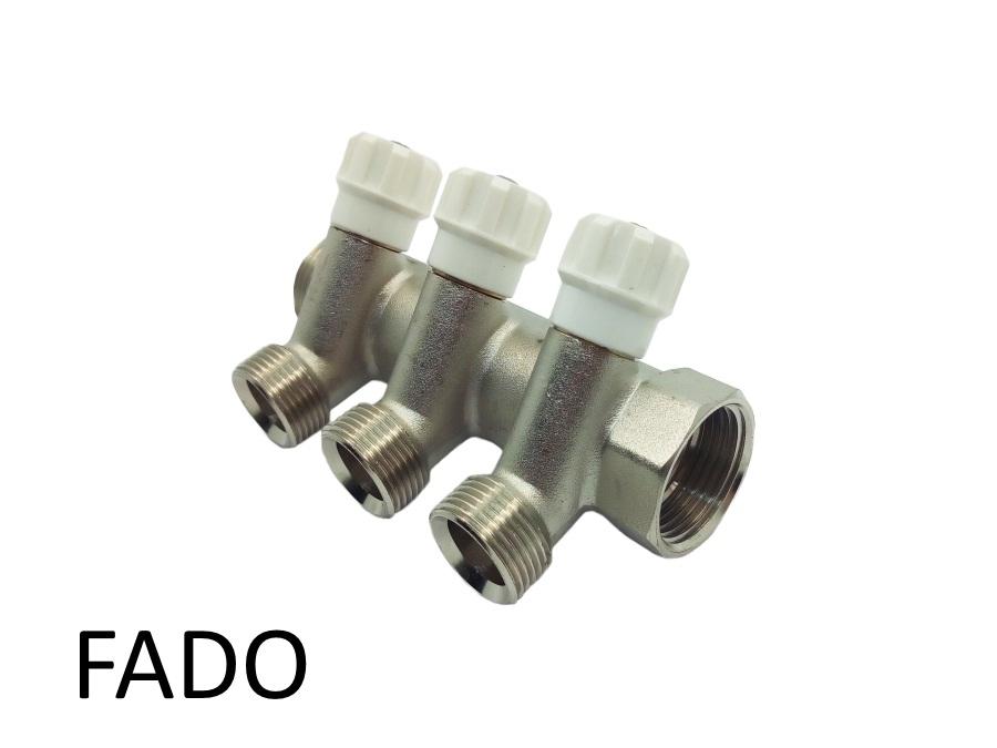 Коллектор вентильный под евроконус 1х3/4 х 3 Fado