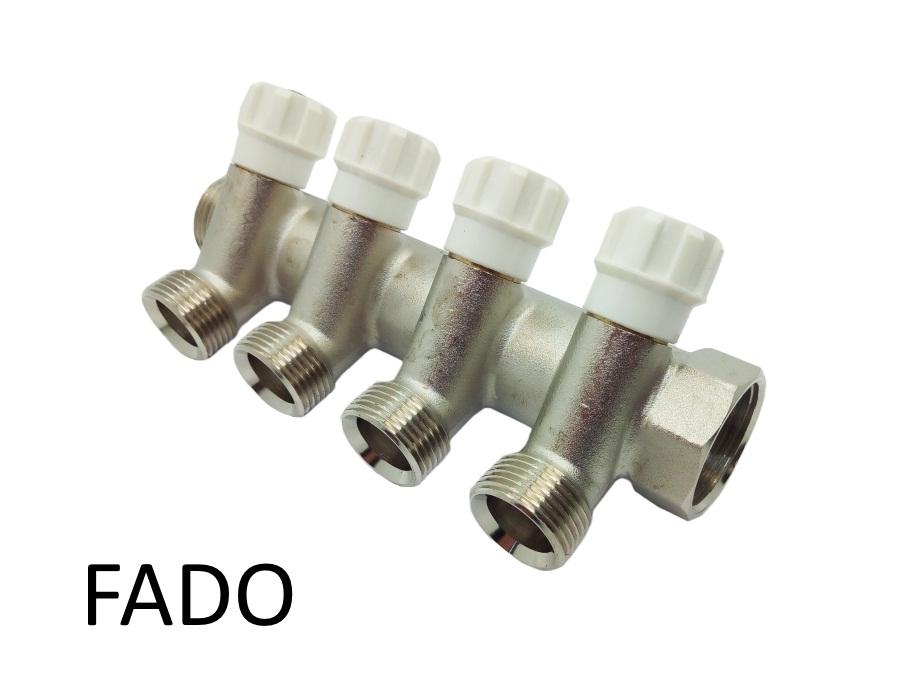 Коллектор вентильный под евроконус 1х3/4 х 4 Fado
