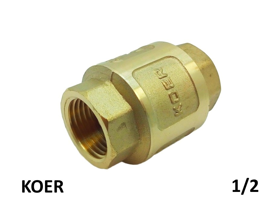 Обратный клапан с латунным штоком 1/2 KOER