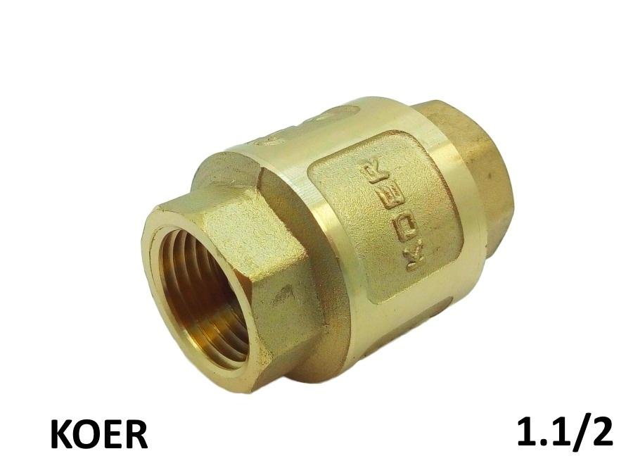 Обратный клапан с латунным штоком 1.1/2 KOER - Усиленный