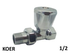Вентиль радиаторный прямой верхний KOER 1/2 хромированый