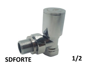 Вентиль радиаторный прямой верхний SD FORTE 1/2 хромированый