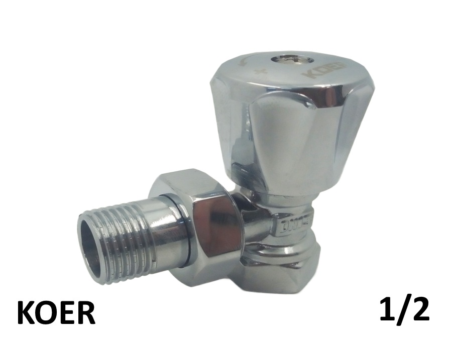 Вентиль радиаторный угловой верхний KOER 1/2 хромированый