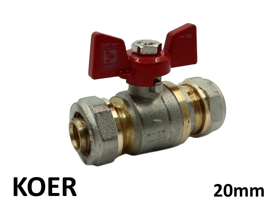 Кран 20-20 для металлопластиковых труб KOER