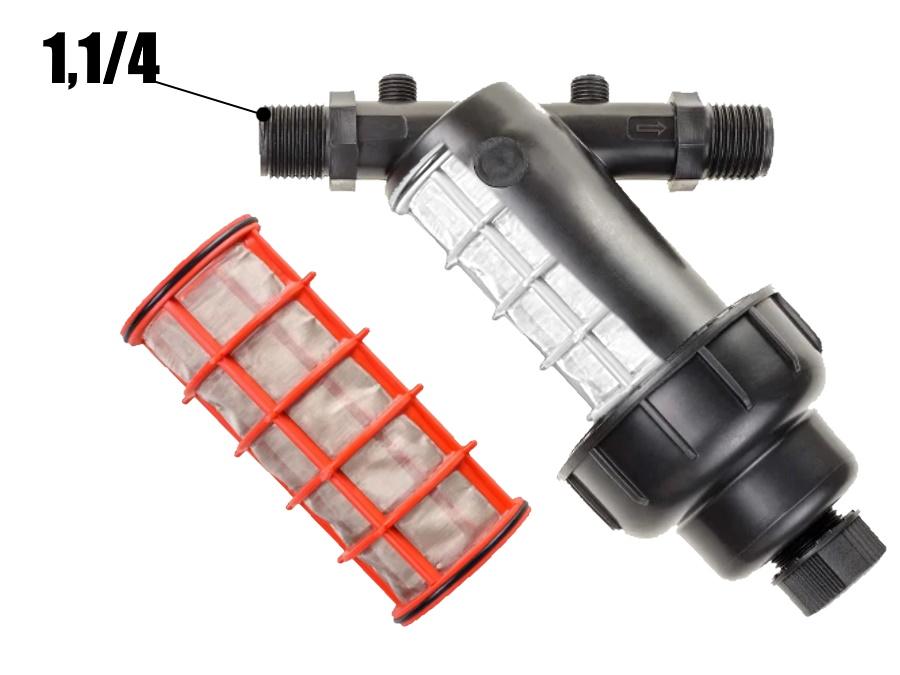 Фильтр сетчатый для капельного полива 1.1/4 дюйма - (10л)