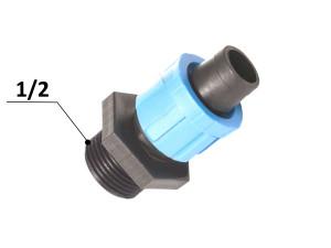 Муфта для капельной ленты с наружной резьбой 17 - 1/2 (SL-002)