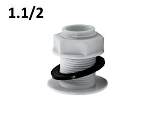 Врезка в бочку 1,1/2 пластиковая
