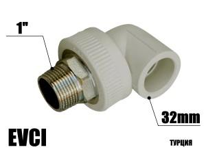 Колено под ключ 32-1н EVCI