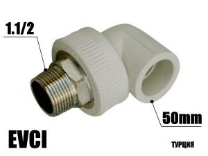 Колено под ключ 50-1.1/2н EVCI
