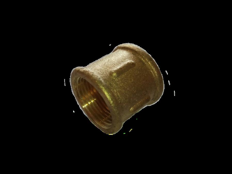 Муфта 3/4 латунная усиленная желтая