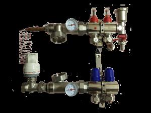 Коллектор KOER латунь - х2 - с 1 воздухоотводом