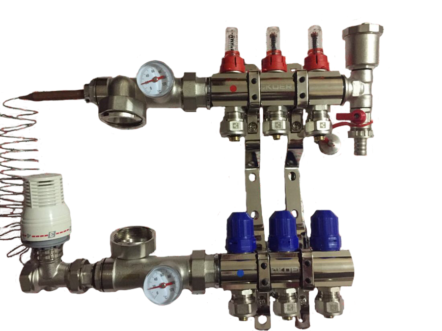 Коллектор KOER латунь - х3 - с 1 воздухоотводом