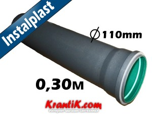 Трубы для канализации Инсталпласт трехслойная 110/0.30м - 1.8мм