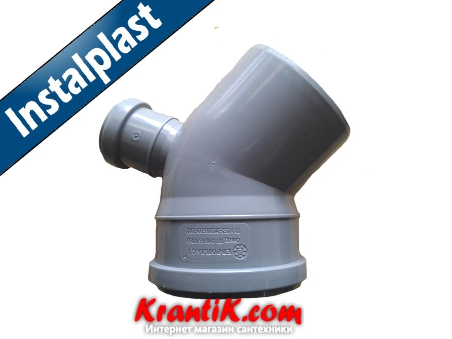 Колено с отводом верх 110-50/45 - Инсталпласт