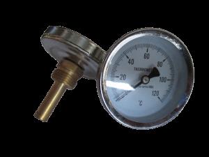 Термоманометр 1/2 Ø80мм 120ºC 6 бар нижнее подключение