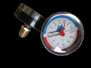 Термоманометр 1/2 Ø80мм 120ºC 6 бар заднее подключение